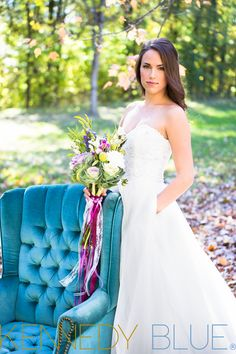A lace and organza wedding dress that's suitable for a princess! | Kennedy Blue Carolyn