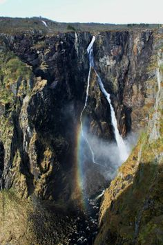 Norway, Vøringfoss waterfall, 182 m