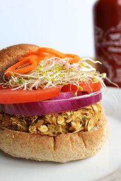 California Chickpea Veggie Burger