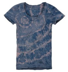 Shibori Dyed Wool T-Shirt: Concentric