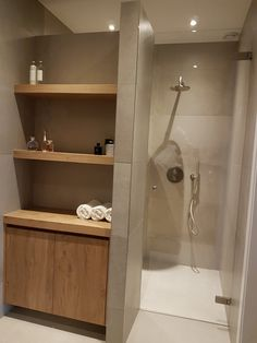 most popular basement bathroom remodel ideas on a budget low ceiling and for small space 35 Laundry In Bathroom, Basement Bathroom Remodeling, Trendy Bathroom, Small Bathroom Storage, Bathroom Interior, Modern Bathroom, Bathroom Shower, Bathroom Decor, Tile Bathroom