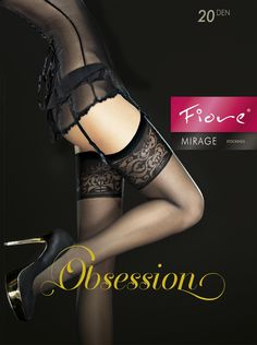ff78f0824ab Fiore Mirage patterned top stockings at Stockings HQ the UK Fiore Stockings  Shop