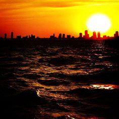 #chicago #skyline #sunset #latergram