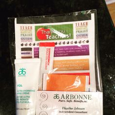 Just created a Teachers gift using Arbonne products.. Love my job!!!