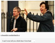 Martin Freeman and Benedict Cumberbatch                                                                                                                                                                                 Mehr