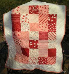 "Valentines Quilt Valentines and Hearts ""love me some love"" alli dale  #love #hearts #valentines"