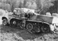 A Famo SdKfz 9 heavy 18 ton halftrack
