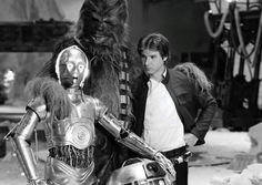 C3PO, Chewie and Han