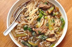 easy asian beef noodle soup