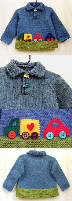 Trendy ideas for knitting baby boy sweater crochet cardigan Baby Boy Knitting Patterns, Baby Sweater Patterns, Baby Clothes Patterns, Knitting For Kids, Baby Patterns, Cardigan Pattern, Crochet Baby Sweater Pattern, Crochet Patterns, Knitted Baby Clothes