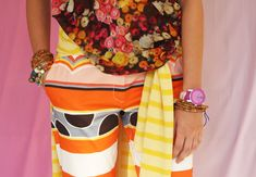 love this mix of color and pattern
