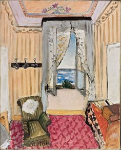 Henri Matisse (French, 1869–1954)  Interior at Nice (Room at the Hôtel Beau-Rivage), 1918  Oil on canvas; 29 x 23 3/4 in. (73.7 x 60.3 cm)  Philadelphia Museum of Art, A.E. Gallatin Collection, 1952  © 2012 Succession H. Matisse / Artists Rights Society (ARS), New York
