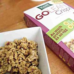 Not my picture, but I had 3/4c of go lean crisp! Toasted berry crumble. With 1/2c milk. Protein and fiber for the school day. This was actually a fear food of mine, but I won't let ana do this to me anymore. #breakfast #cereal #edrecovery #ed #ana #anarecovery #edsoldiers #beatana #beated #healthy #Padgram