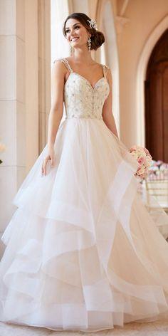 Stella York Beaded Lace Wedding Dress With Sweetheart Neckline style 6309 b