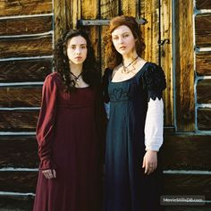 Ginger Snaps Back: The Beginning - Promo shot of Katharine Isabelle & Emily Perkins Witchcraft Movie, The Beginning Movie, Ginger Snaps Movie, Liz Vicious, Katharine Isabelle, Character Portraits, Horror Films, Bridesmaid Dresses, Wedding Dresses