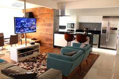 20 Varandas/sacadas integradas às salas - veja dicas e inspirações para apartamento! - DecorSalteado