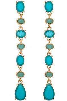 """Add a dash of color and shine to your wardrobe with these stunning drop earrings.  Measures 3""""5 Long."""