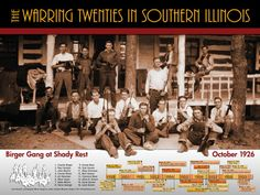 Nothing like having a cousin sitting smack dab in the middle of the Charlie Birger Gang. The Warring Twenties of Southern Illinois (poster)