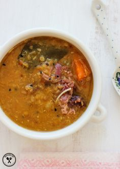 Lentil Coconut and Ham Hock Soup. Twist on the traditional Lentil and Ham Soup - Fragrant with South East Asian herbs and spices! Ham Hock Soup, Pea And Ham Soup, Lentil Recipes, Soup Recipes, Dinner Recipes, Ham Recipes, Free Recipes, Fermented Cabbage, Australian Food