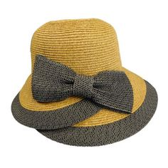 Overlapping Brim and Bow Sun Hat