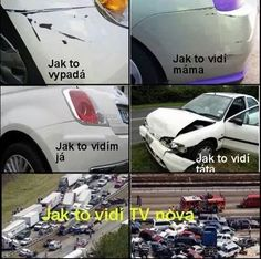 Jak to kdo vidí Good Humor, Good Jokes, Funny Jokes, Funny Images, Funny Pictures, Jokes Quotes, Memes, English Jokes, Medical Humor