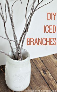 Why buy iced branches when you can DIY your own? Such an easy craft!!