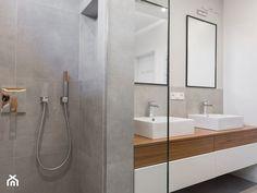 segment, Sokołów Podlaski 150 m2 - Średnia łazienka na poddaszu w bloku w domu jednorodzinnym bez okna, styl minimalistyczny - zdjęcie od MANEKINEKO