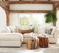 Barn Living, Boho Living Room, Living Room Decor, Dining Room, Log Bedroom Furniture, Rustic Furniture, Rustic Decor, Farmhouse Decor, Modern Farmhouse