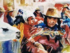 Brian Baxter: In Peru Peru, People, Painting, Turkey, Painting Art, Paintings, People Illustration, Drawings