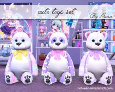 cute toys set - BY NANA • Don't claim as your own ! • If you use it, please tag me and/or link my tumblr ! ^_^ • Don't reupload ! Download Have fun ! ∩( ・ω・)∩ Reblog if you like !!! Thank you !!!