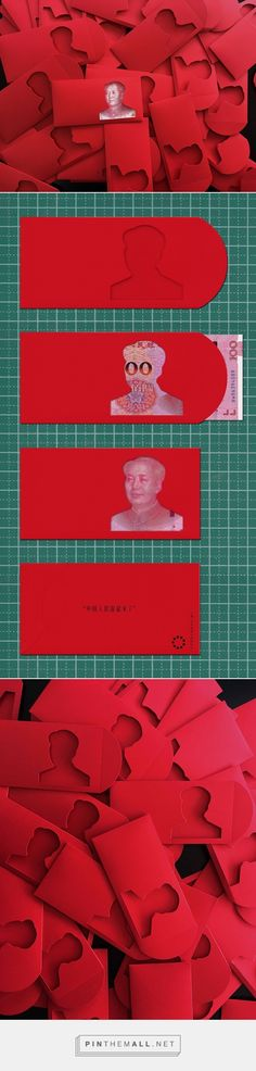 Chairman Mao CNY Red Packet design by Jody Xiong Graphic Design Typography, Graphic Design Illustration, Identity Design, Logo Design, Red Packet, Label Design, Package Design, Packaging Design Inspiration, Brand Packaging