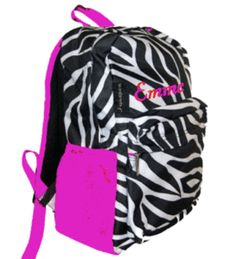 PERSONALIZED Backpack Zebra Print Back Pack - WE OFFER OVER   (Backpack for Vannah.....PERFECT)