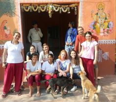 Ashram family in january