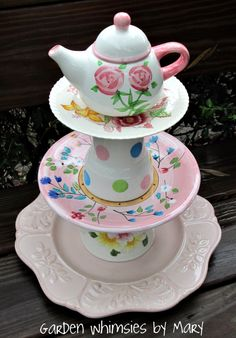 Princess tea party centerpiece by Garden Whimsies by Mary