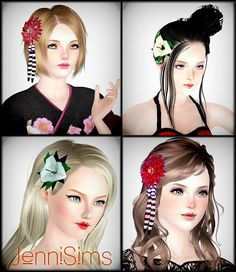 Hair accessories at Jenni Sims - Sims 3 Finds