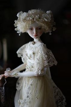 Porcelain doll by Oksana Saharova. Muse. porcelain, 65cm. Collection Muses by Alphonse Mucha