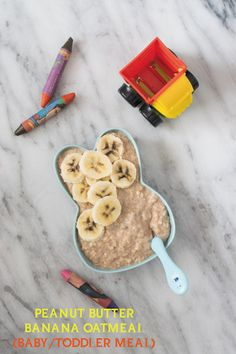 Delicious creamy good for your baby/toddler Peanut Butter Banana Oatmeal is packed with tons of nutrients and sets the tone for the day! Peanut Butter Roll, Peanut Butter Banana, Toddler Food, Toddler Meals, Cooking Time, Cooking Recipes, Good For Her, Banana Slice, Honey And Cinnamon
