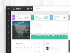 Circle is a Dashboard Admin Template  to count page views and sales!   Have a full view on BEHANCE  Do you need something like it? Let's say HELLO! on hello@abdullahnoman.com  Thanks