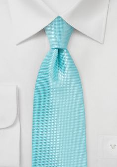 Bright Solid Colored Tie in Aruba Blue