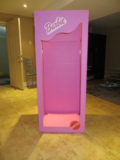 Life sized Barbie box. Bought a large wardrobe box, cut out the opening, painted it pink, printed up the Barbie and Mattel logo, and voila. All the little girls took pictures in the barbie box. They LOVED it!