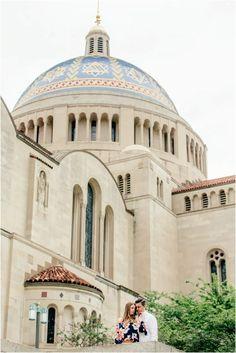 Washington DC Engagement Catholic University of America by Popography