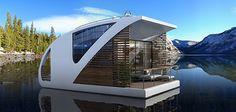 Lujoso hotel flotante de Salt & Water donde los clientes se hospedan en catamaranes privados