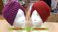 Tutorial: Cappello Turbante ai ferri e all'uncinetto - spiegazione punto...