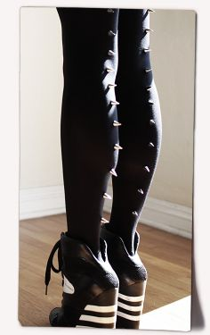 of course i need a pair of spiked tights!