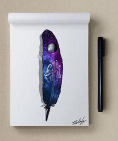 inspiration - Stars Themed Illustrations by Muhammed Salah <3 <3