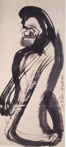 Daruma (Bodhidharma), From Buddhahood to Brothel, From Saint to Sinner. Evolution of Daruma Art in Japan. Digital Dictionary of Japanese Buddhism. Zen Painting, Painting Gallery, Japanese Painting, Chinese Painting, Japanese Buddhism, Traditional Japanese Art, Art Asiatique, Art Japonais, Zen Art