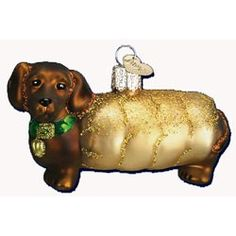 Weiner Dog Glass Ornament by Old World Christmas