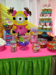 Birthday Party Ideas Minion theme, can't get enough of it! Minion Birthday, Minion Party, Minion Theme, Girls Party, Baby Party, 4th Birthday Parties, 2nd Birthday, Birthday Ideas, Minion Baby Shower
