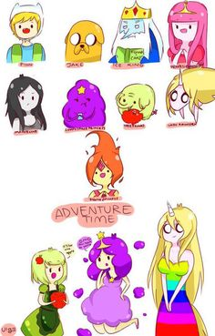 Characters of adventure time~~ ---- from: Adventure Time art by: My :,D AT: Characters Fin And Jake, Jake The Dogs, Watch Cartoons, Disney Cartoons, Aventura Time, Adventure Time Anime, Adventure Time Characters, Land Of Ooo, Princess Adventure