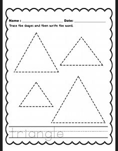 preschool triangle worksheet Free Printable Shape